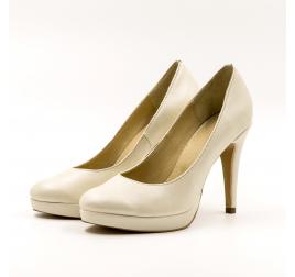 Pantofi mireasa Clasic-TUNGUS, piele naturala bej sidef, marimi 33-40 EU